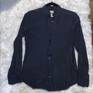 Excellent used condition JCrew silk button-up